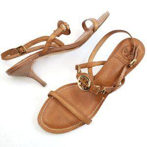Tory Burch Mira Slingback Strap Kitten Heel Sandal